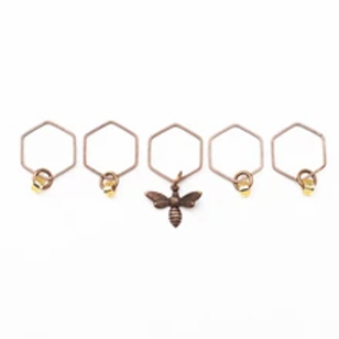 ADknits Bee and Honey Stitch Markers