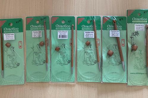 "ChiaoGoo Bamboo 24"" Flexible Tuisian Crochet Hooks"
