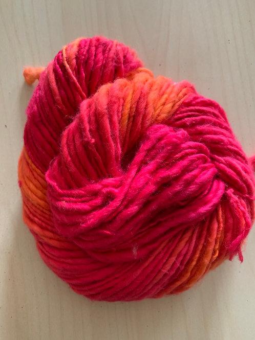 """Great Adirondack Yarn Co. Cotton Homespun """"Red Orange"""""""
