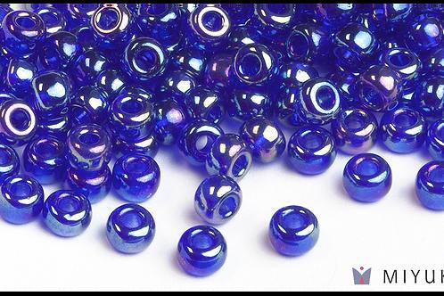 Miyuki 6/0 Glass Beads Transparent Cobalt AB