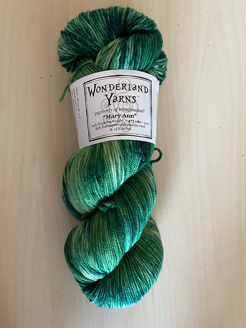 "Wonderland Yarns Mary Ann Sock ""Foxfire"" #220"