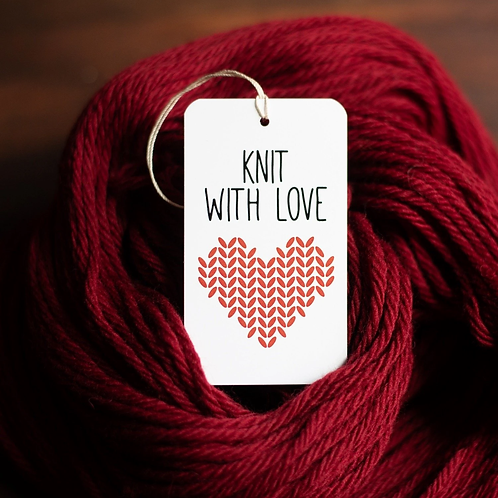 ADknits Knit with Love gift tags
