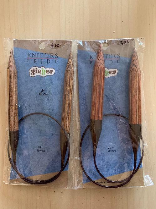 "Knitter's Pride Ginger 24"" Circular Needles"