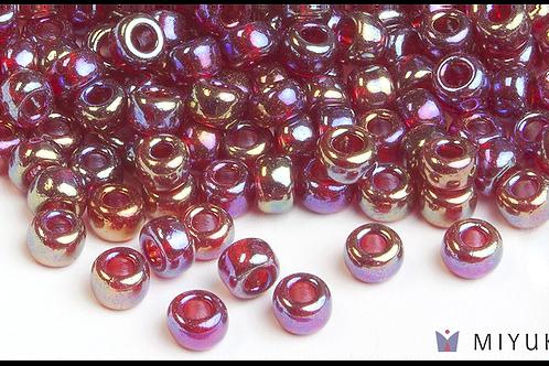 Miyuki 6/0 Glass Beads Transparent Ruby AB