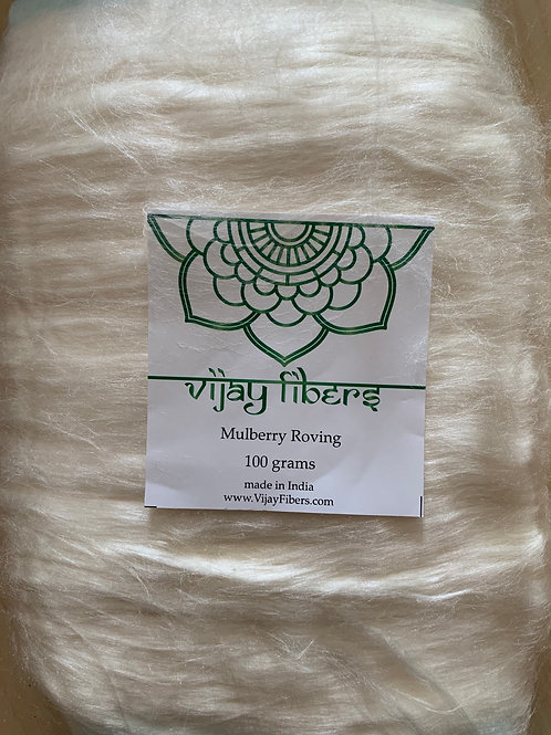 Vijay Fibers 100% Mulberry Silk Slivers