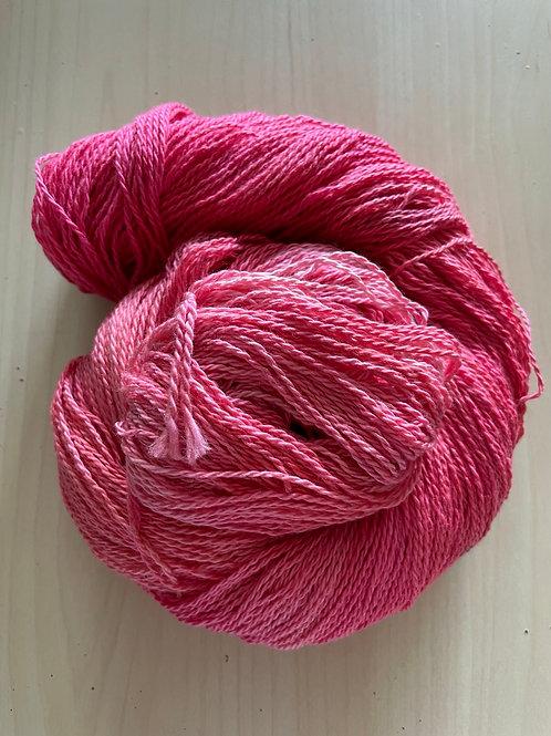 "Great Adirondack Yarn Co Organic Cotton Fingering ""Coral"""