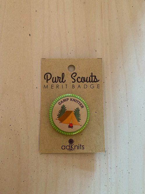 Camp Knitter Purl Scout Merit Badge