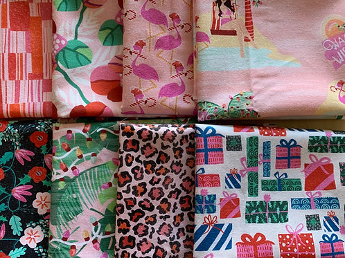 Flamingo Christmas Fat Quarters