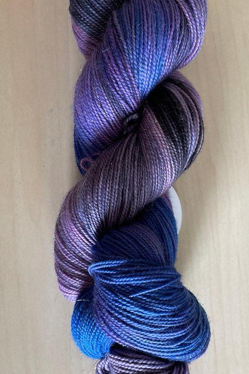 """ColorWae Fiber Arts Sparkle Sock """"Lunar Eclipse"""""""