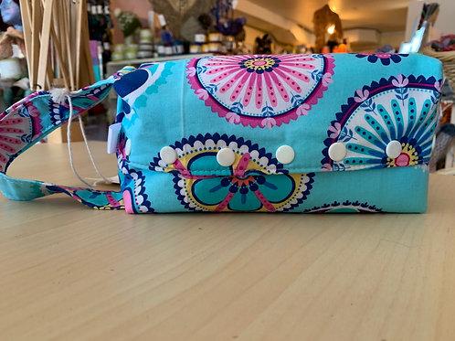 "Rock Solid Designs Kellie Bag Small ""Blue Flowers"""