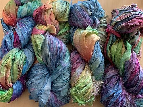 "Great Adirondack Yarn Co Sari Silk ""Opals"""