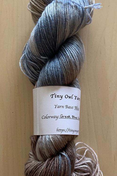 "Tiny Owl Yarn Alice ""Great Blue Heron"""