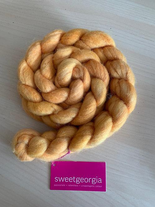 """Sweet Georgia  Polwarth + Silk """"Pineapple"""""""