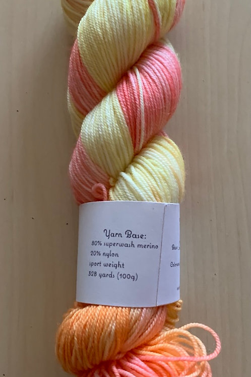 """Tiny Owl Yarns Clyde """"Rainbow in Pieces 1"""""""