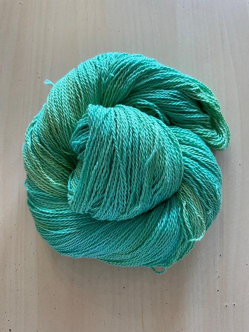 "Great Adirondack Yarn Co Organic Cotton Fingering ""Key Lime"""