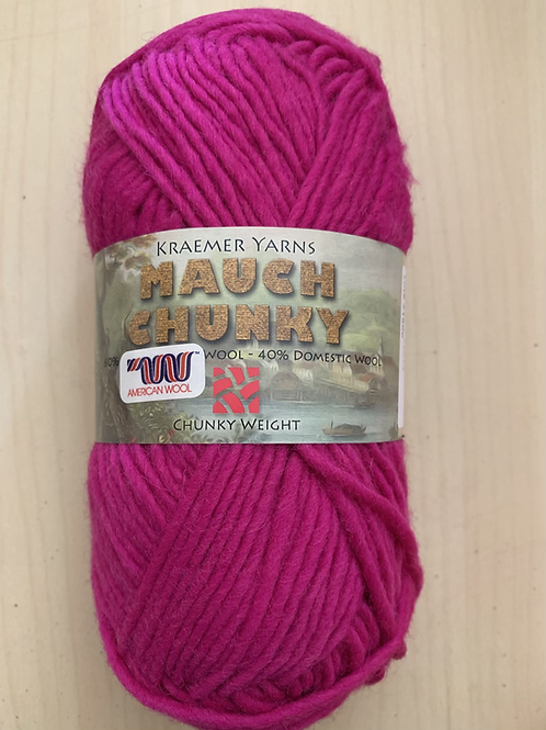 "Kraemer Yarns Mauch Chunky ""Raspberry"" 1014"
