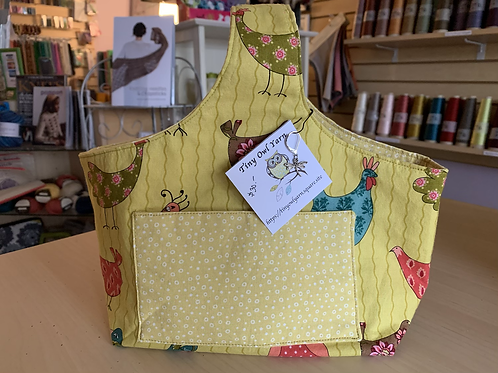 "Tiny Owl Yarns Projects Bag ""Cartoon Chickens"""