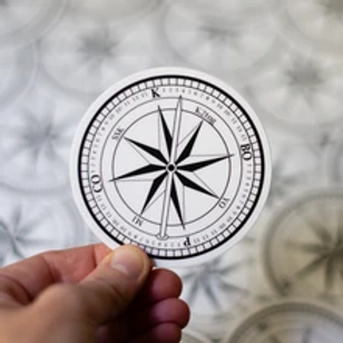 ADknits Stickers Knitter's Compass