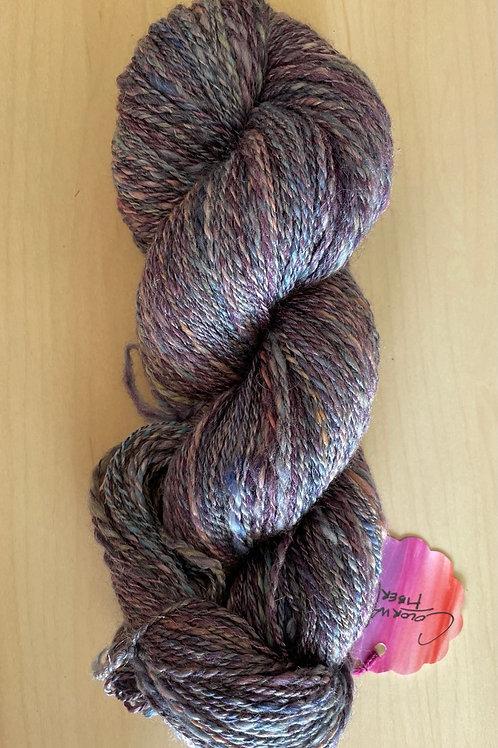 ColorWae Fiber Arts  OOAK Handspun Wool/Silk Blend