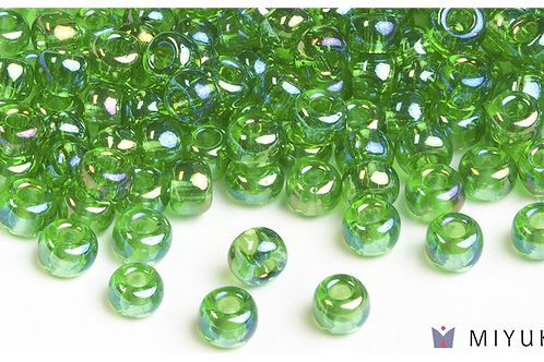 Miyuki 6/0 Glass Beads Transparent Light Green AB