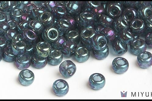 Miyuki 6/0 Glass Beads Capri Blue Gold Luster