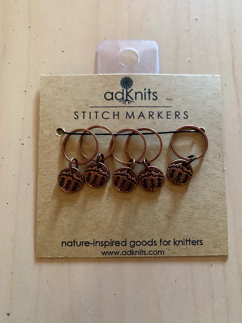 Mountains stitch markers