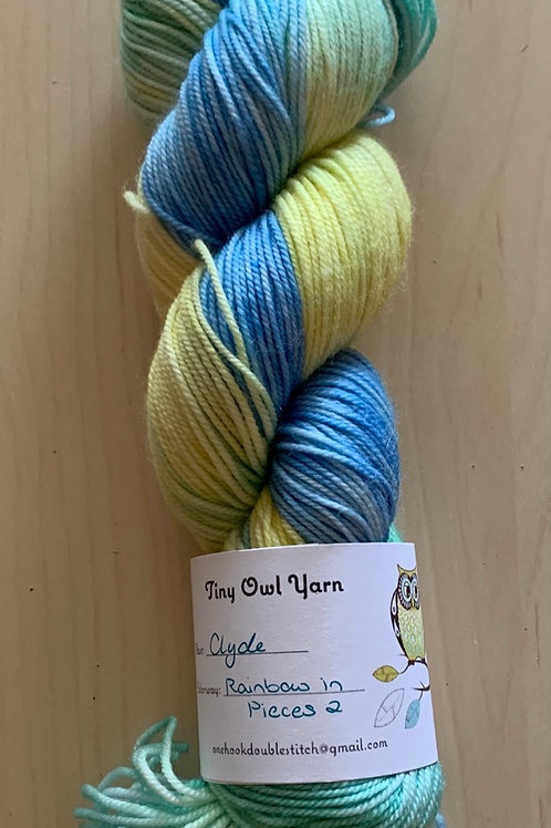"""Tiny Owl Yarns Clyde """"Rainbow in Pieces 2"""""""