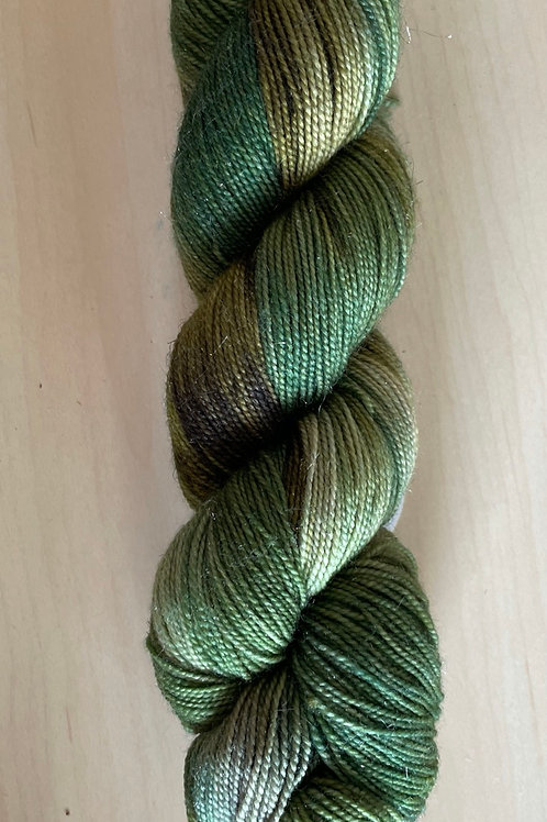 "ColorWae Fiber Arts Sparkle Sock ""Hemlock"" OOAK"
