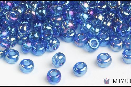 Miyuki 6/0 Glass Beads Transparent Capri Blue AB