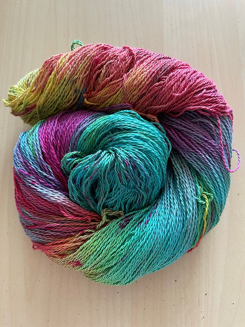 "Great Adirondack Yarn Co Organic Cotton Fingering ""Bali Brights"""