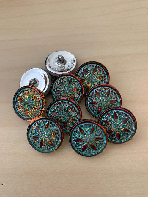 Nirvana Glass Button Star Flower