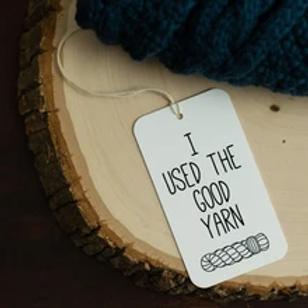 ADknits The Good Yarn Gift Tags