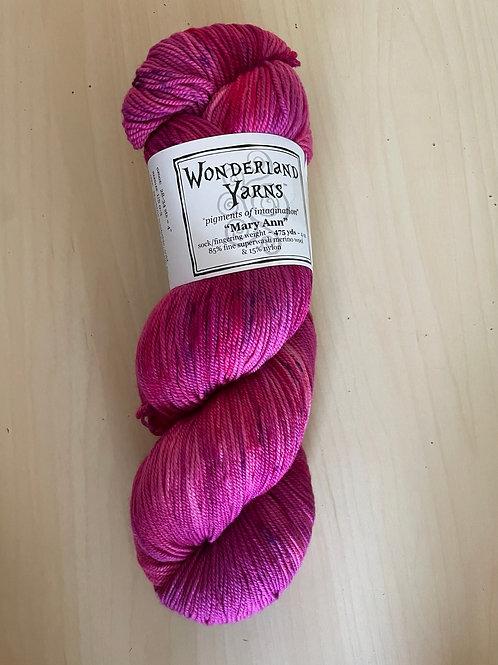 """Wonderland Yarns Mary Ann Sock """"Glowingly"""" #225"""