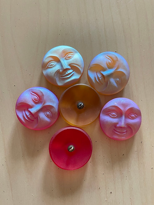 Nirvana Glass Buttons Large Moon Face