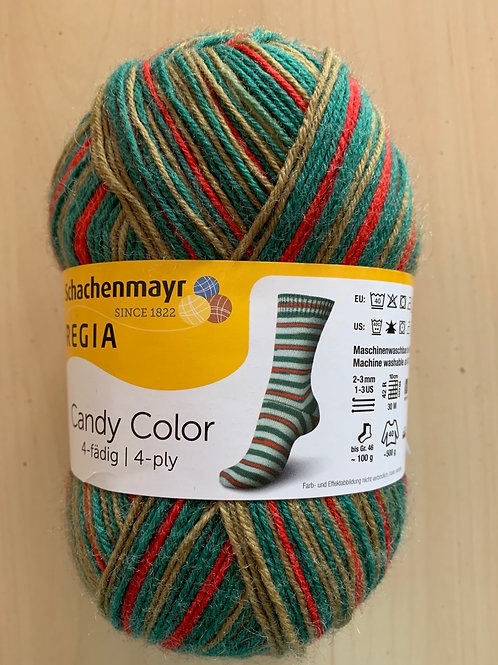 Regia 4-ply Candy Color Green, Red, Gold