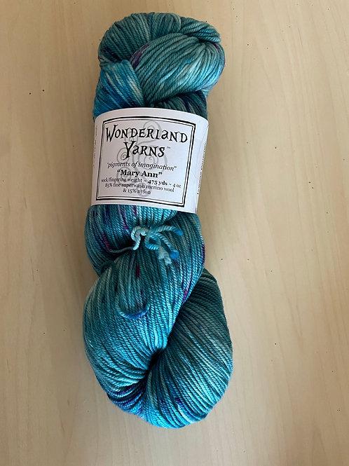 "Wonderland Yarns Mary Ann Sock ""Shinigness"" #221"