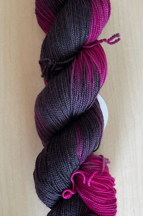 "ColorWae Fiber Arts Color Sock ""Anxiety"""