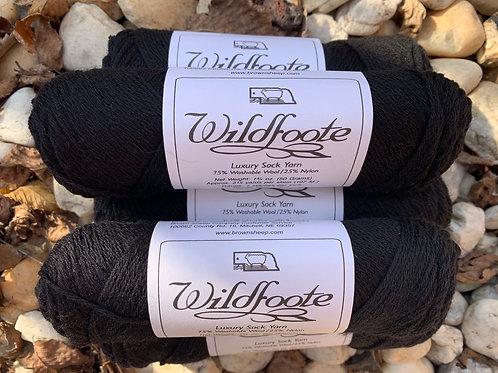 """Brown Sheep Company Wildfoote Sock Yarn """"Black Orchid"""""""