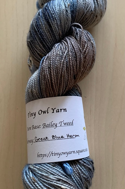 "Tiny Owl Yarn Bailey Tweed ""Great Blue Heron"""