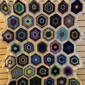 Ruby Hexagon Blanket