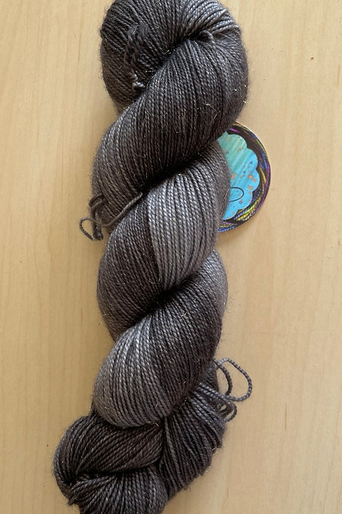 "ColorWae Fiber Arts Sparkle Sock ""New Moon"""