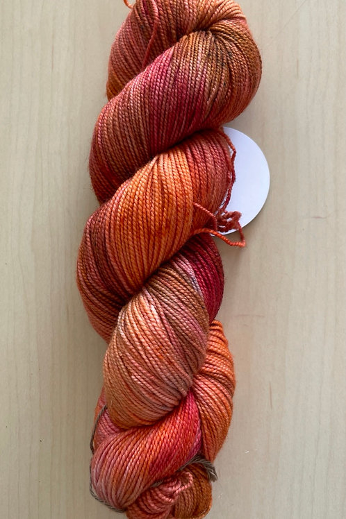 """ColorWae Fiber Arts Color Sock """"Campfire"""""""