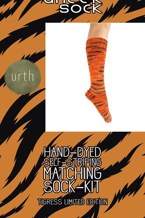 """Urth Yarns Uneek Sock Kit """"Tigress Limited Edition"""""""