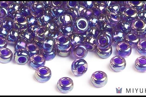 Miyuki 6/0 Glass Beads Purple-lined Amethyst AB