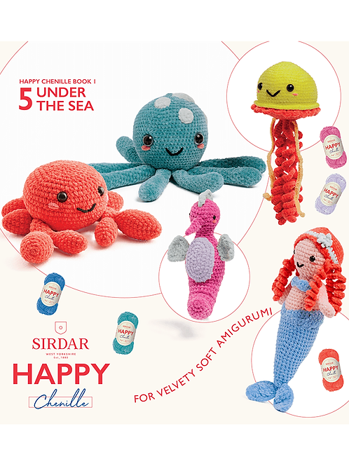 Sirdar Happy Chenille Under the Sea Pattern Booklet