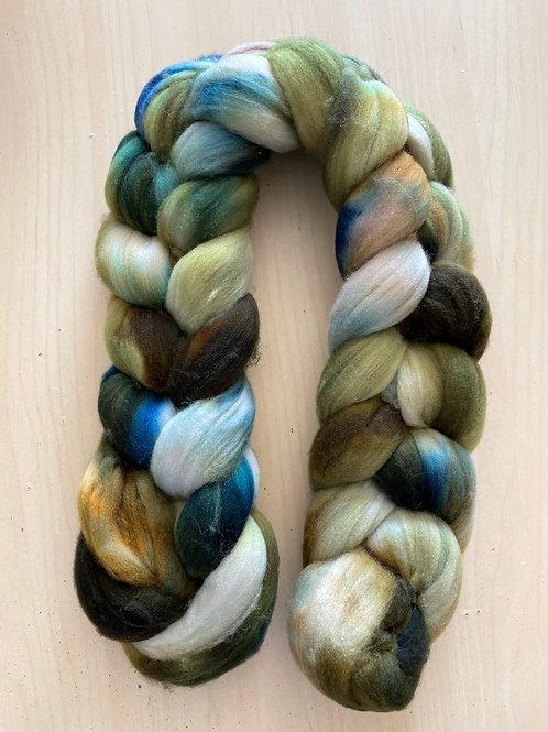 "ColorWae Fiber Arts Superwash Merino ""Gaia"" Braid A"