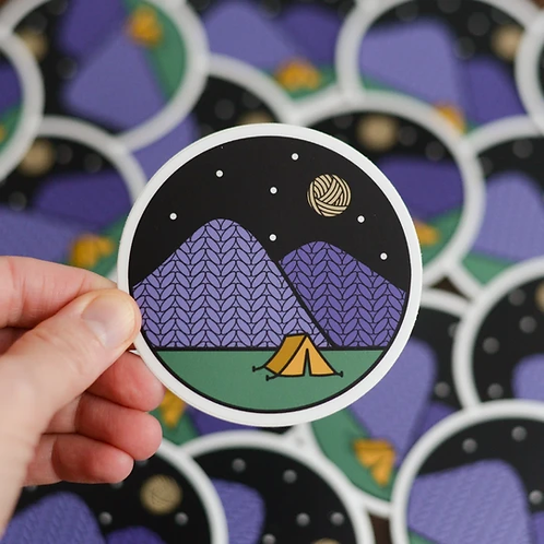 ADknits Stickers Camping