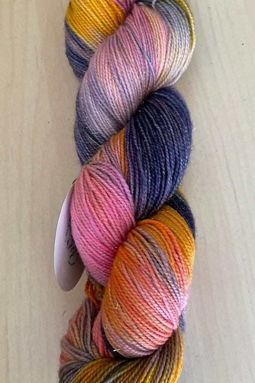 "ColorWae Fiber Arts Sparkle Sock ""Sunset at Linganore"""