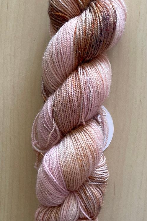"ColorWae Fiber Arts Sparkle Sock ""Rose Quartz"""