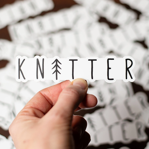 ADknits Tree Knitter Stickers